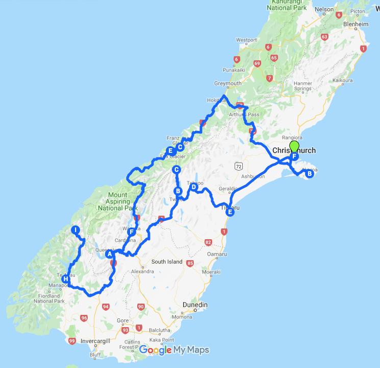 紐西蘭行程
